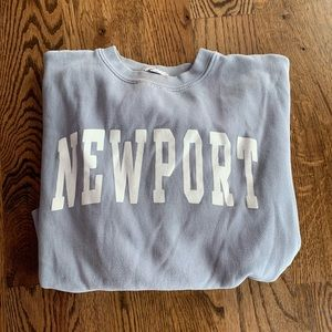 Cropped Brandy Melville Newport Crewneck